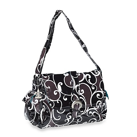 Kalencom Laminated Single Buckle Diaper Bag in Surf