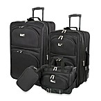 Geoffrey Beene 4-Piece Luggage Set in Black