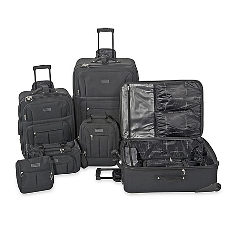 Geoffrey Beene 6-Piece Main Street Luggage Set in Black