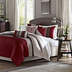 Tradewinds Full/Queen 6-Piece Duvet Cover Set in Red