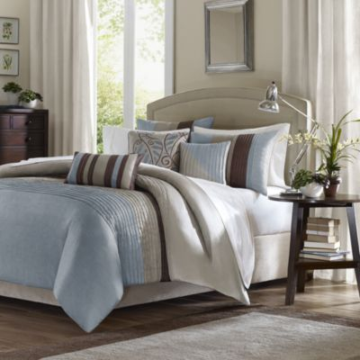 Tradewinds 6-Piece Full/Queen Duvet Cover Set in Blue