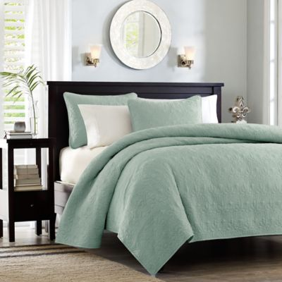 Madison Park Quebec 3-Piece Coverlet Set in Seafoam