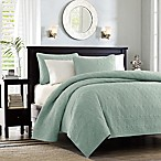Madison Park Quebec Coverlet Set in Seafoam