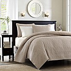 Madison Park Quebec 3-Piece Full/Queen Coverlet Set in Khaki