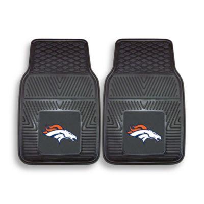 NFL Denver Broncos Vinyl Car Mats (Set of 2)
