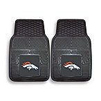 NFL Denver Broncos Vinyl Car Mats (Set of 2)