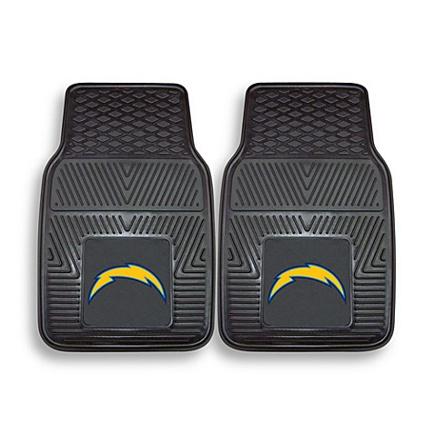 NFL San Diego Chargers Vinyl Car Mats (Set of 2)