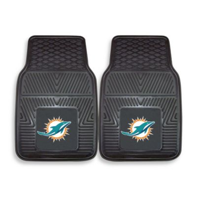 NFL Miami Dolphins Vinyl Car Mats (Set of 2)