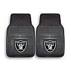 NFL Oakland Raiders Vinyl Car Mats (Set of 2)
