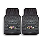 NFL Baltimore Ravens Vinyl Car Mats (Set of 2)