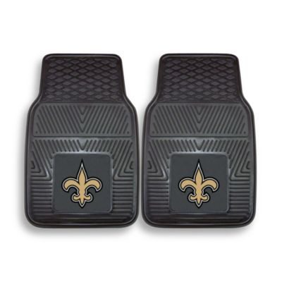 NFL New Orleans Saints Vinyl Car Mats (Set of 2)
