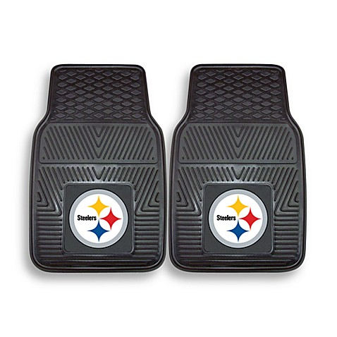 NFL Pittsburgh Steelers Vinyl Car Mats (Set of 2)