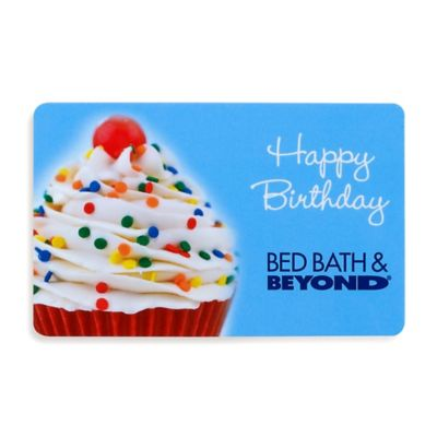 Happy Birthday Blue Cupcake Gift Card $50.00