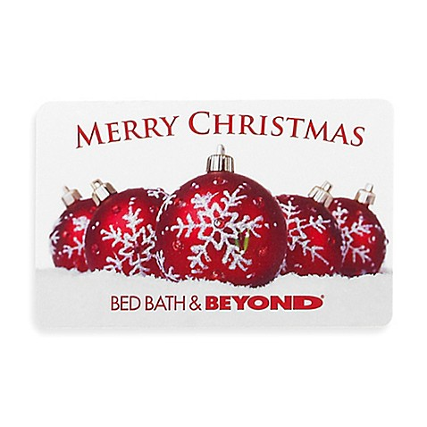 Merry Christmas Red Ornaments Gift Card Bed Bath Beyond