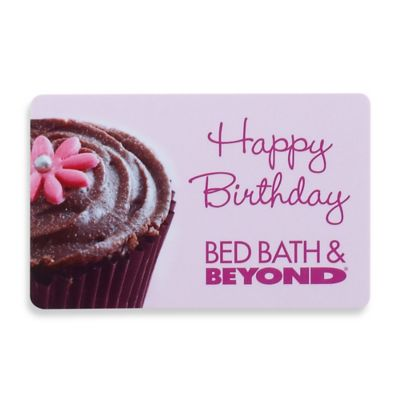 """Happy Birthday"" Pink Cupcake Gift Card $100"