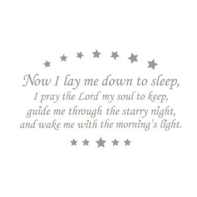 WallPops!® Wall Decals in Wall Wishes in Now I Lay Me Down to Sleep