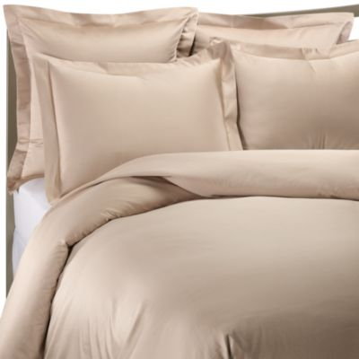 1000 Thread Count Standard Sham in Taupe