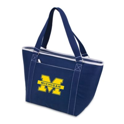 Picnic Time® University of Michigan Collegiate Topanga Cooler Tote in Navy Blue