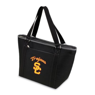 Picnic Time® University of Southern California Collegiate Topanga Cooler Tote in Black