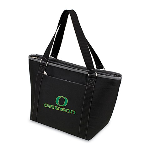 Picnic Time® University of Oregon Collegiate Topanga Cooler Tote in Black