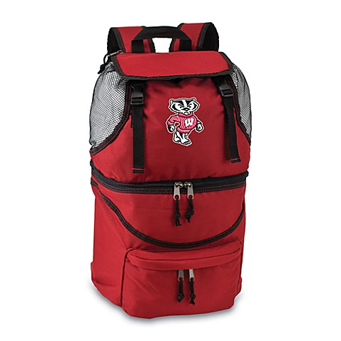 Picnic Time® University of Wisconsin Collegiate Zuma Insulated Cooler Backpack in Red