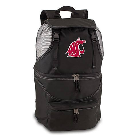 Picnic Time® Washington State Collegiate Zuma Insulated Cooler Backpack in Black