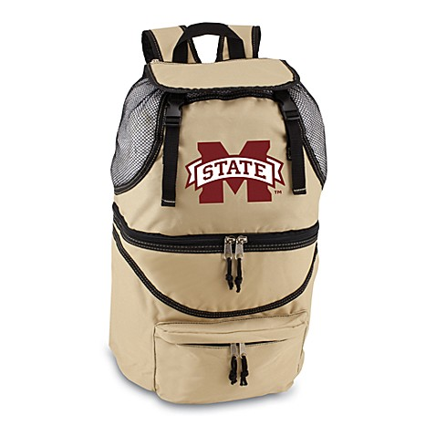 Picnic Time® Mississippi State Collegiate Zuma Insulated Cooler Backpack in Beige