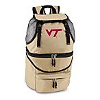 Picnic Time® Virginia Tech Collegiate Zuma Insulated Cooler Backpack in Beige