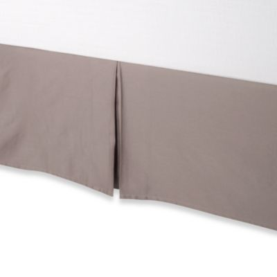 Palais Royale Hotel Collection Twin Bed Skirt in Stone