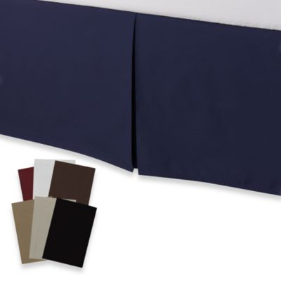 smoothweave™ Tailored 18-Inch Twin Bed Skirt in Navy