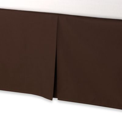 smoothweave™ Tailored 18-Inch Queen Bed Skirt in Chocolate