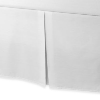 smoothweave™ Tailored 18-Inch King Bed Skirt in White