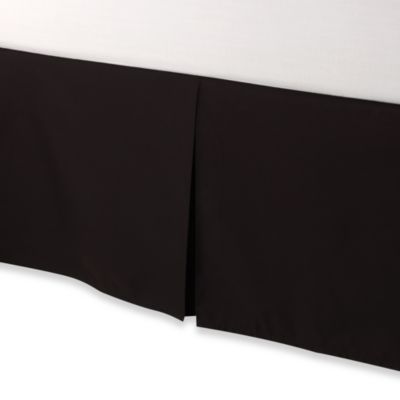 smoothweave™ Tailored 18-Inch King Bed Skirt in Black