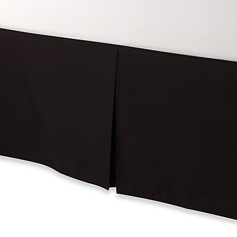 smoothweave™ Tailored 18-Inch California King Bed Skirt in Black