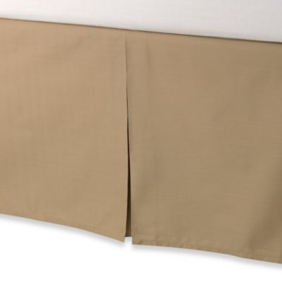 smoothweave™ Tailored 18-Inch King Bed Skirt in Mocha