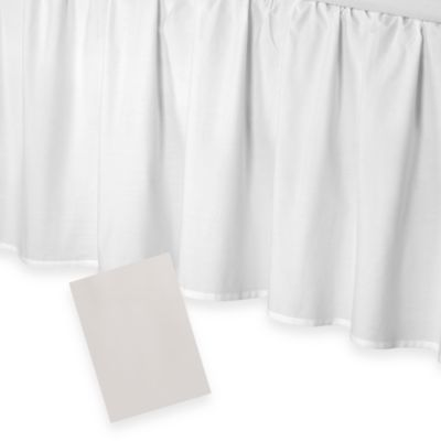 smoothweave™ 18-Inch Ruffled Full Bed Skirt in Ivory