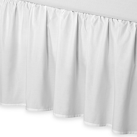 smoothweave™ 18-Inch Ruffled California King Bed Skirt in White