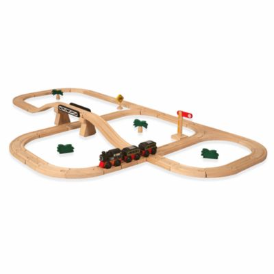 Plan Toys® Road and Rail Deluxe Train Set
