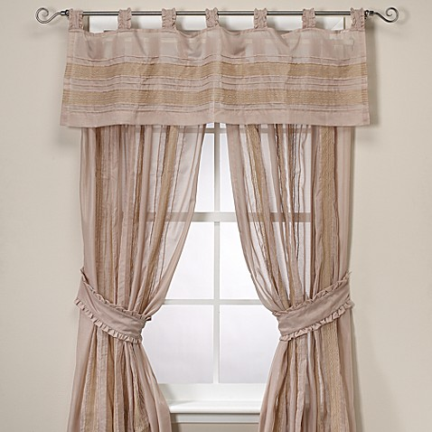 Vintage Chic Annabelle Sheer Tab Top Window Curtain Panels Bed Bath Beyond