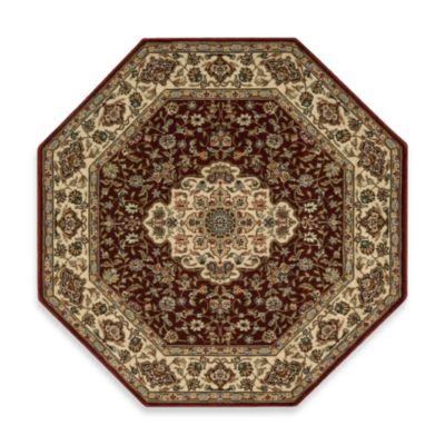 Nourison Persian Arts Kirman 5-Foot 3-Inch Octagonal Rug in Brick Red