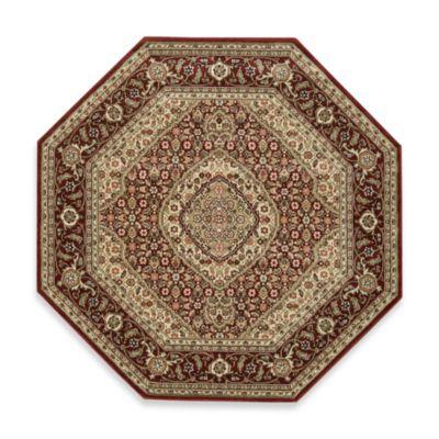 Nourison Persian Arts Mahi 5-Foot 3-Inch Octagonal Rug in Brick