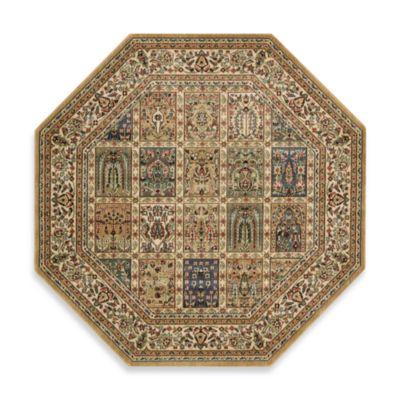 Nourison Persian Arts 5-Foot 3-Inch Panel Octagonal Rug in Beige