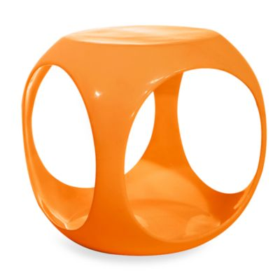 Avenue Six Slick Cube Occasional Table in Orange