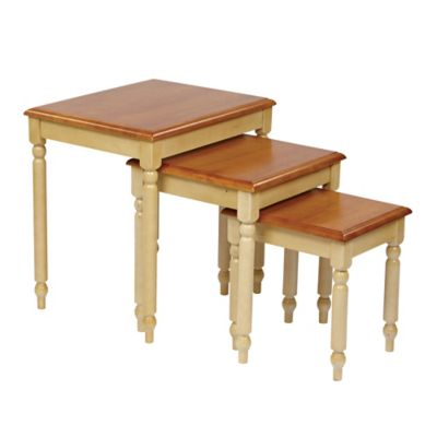 Nesting Tables in Buttermilk (Set of 3)