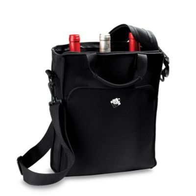 Wine Enthusiast Neoprene 3 Bottle Wine Tote Bag