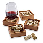 Wine Enthusiast Wine Cork Coasters Kit (Set of 4)