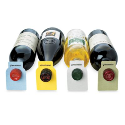 Wine Enthusiast 100 Color-20-Pack Coded Wine Bottle Tags