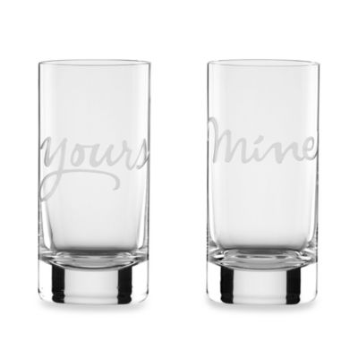 kate spade new york Mine & Yours Highball Glasses (Set of 2)