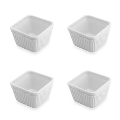 Mikasa Italian Countryside Square 5-Inch Dip Bowls (Set of 4)