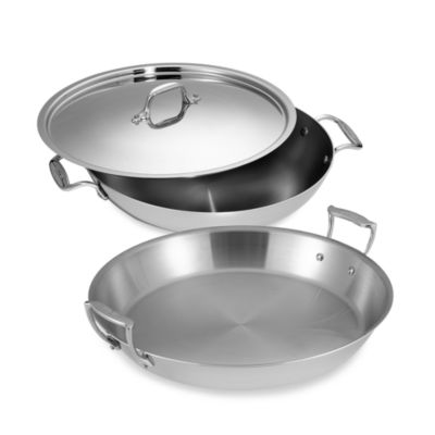 All-Clad Stainless Steel 13-Inch Covered Paella Pan